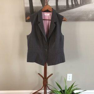 Blazer sale! Grey and pink pinstriped vest